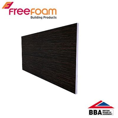 uPVC 405mm Soffit Board (10mm General Purpose) 2.5m - Black Ash