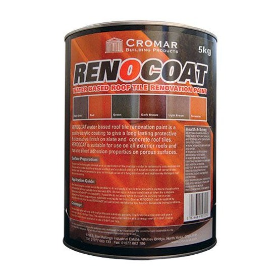 Cromar Renocoat Water Based Roof Tile Renovation Paint 20kg - Red