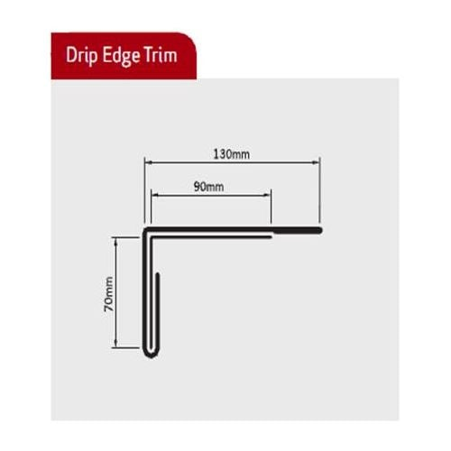 Bailey Sure-line Pre-formed 1950mm Drip Edges - 70mm Face (Box of 5)