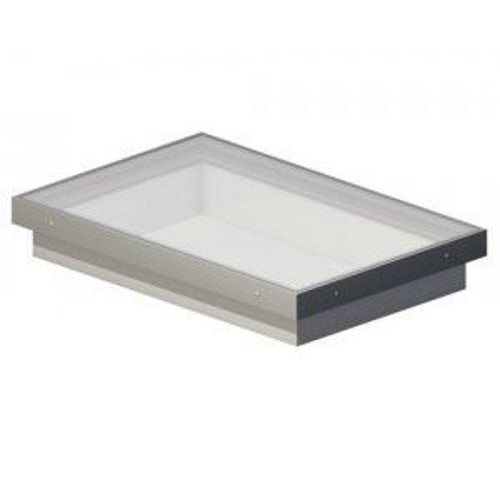 Em-Glaze 600mm x 600mm Double Glazed Clear Fixed with Vertical Curb