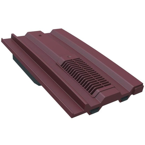 Manthorpe Mini Castellated In-line Roof Tile Vent - Antique Red