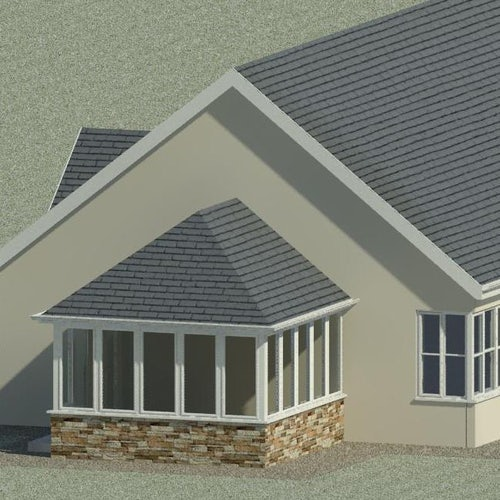 Delta Lite Edwardian Roofing System with Tapco Slates - 3.9m x 3.5m