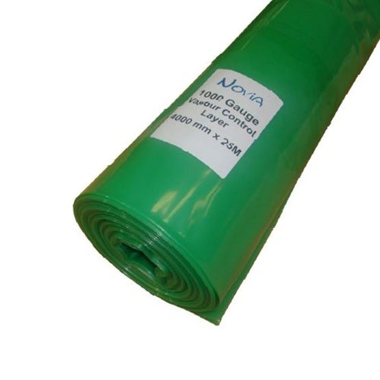 Polythene Vapour Control Layer 1000 Gauge from Novia - 4m x 25m Roll