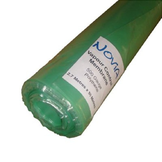 Polythene Vapour Control Layer 500 Gauge from Novia - 2.7m x 50m Roll