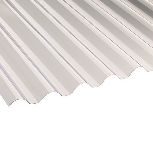 PVC Corrugated Roofing Sheets (77/20 Clear) - 1.8m x 660mm x 0.8mm