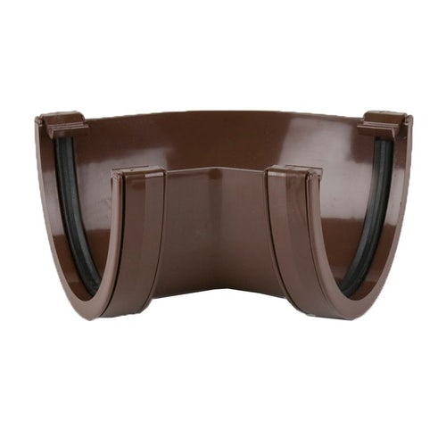 Plastic Guttering Deepstyle High Capacity 135 Degree Angle 115mm Brown