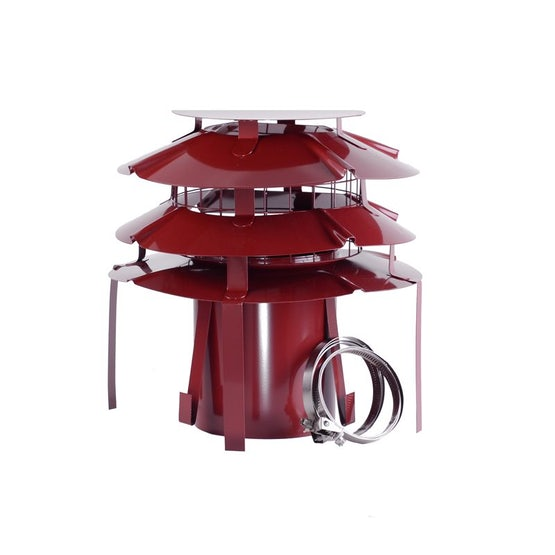 UFO Pot Hanger for Gas 150mm Stainless Steel - Terracotta Painted