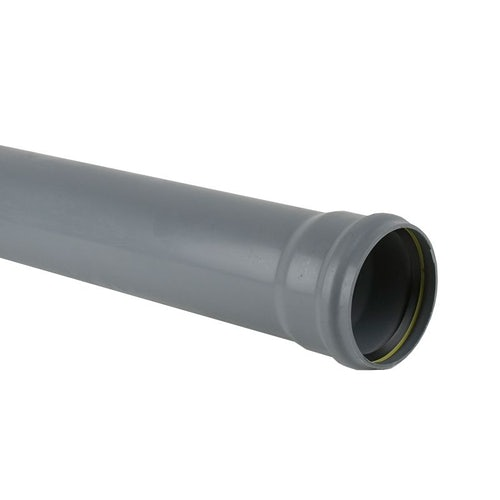Plastic Guttering Industrial Downpipe Socketed 3m Length 110mm - Grey
