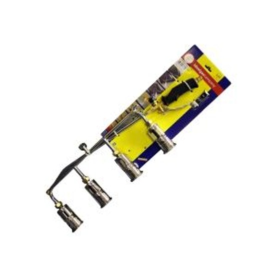 4 Head Economy Gas Torch Kit Complete with Hose & Reg - 600mm x 45mm