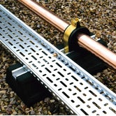 Cable Tray and Pipework Support Foot Flexi-Foot - 600mm Strut