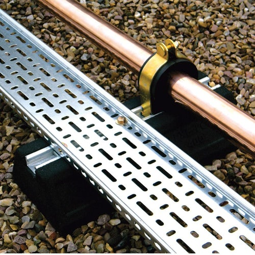 Cable Tray and Pipework Support Foot Flexi-Foot - 1000mm Strut