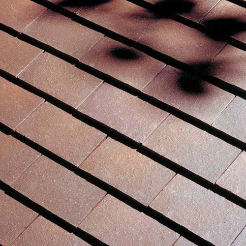 Dreadnought Premium Clay Roofing Tile & Half - Brown Brindle Smooth