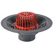 ACO Rainwater Roof Outlet Vertical Scew with Dome Grate - 100mm