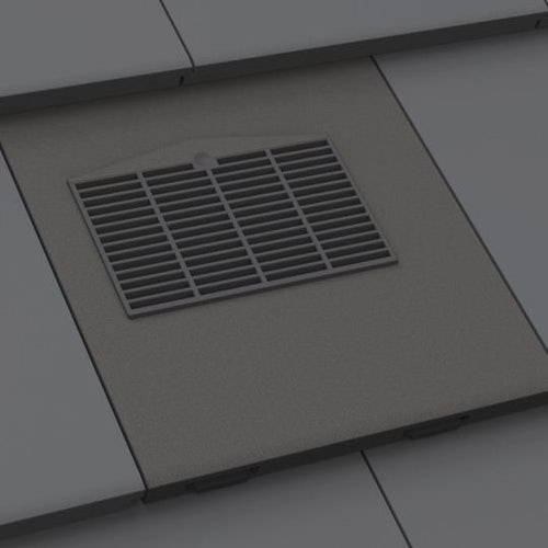 Manthorpe Thin Leading Edge In-line Tile Vent - Slate Grey