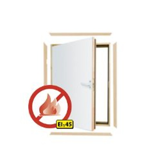 Fakro DWF L-Shaped Fire Rated Combination Door - 70cm x 90cm