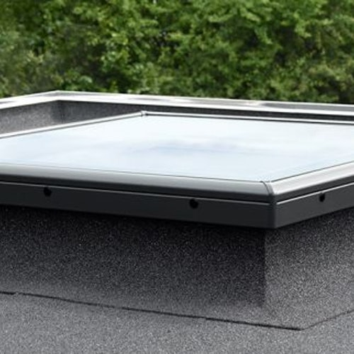 VELUX Fixed Flat Glass Rooflight Clear for Flat Roof - 1000mm x 1500mm