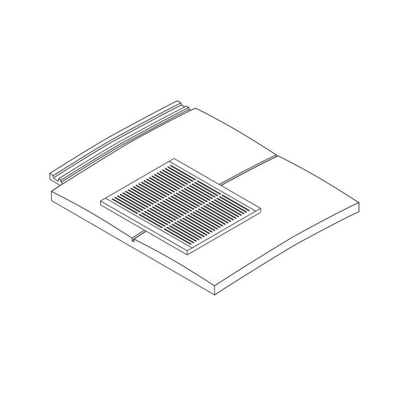 Marley Ashmore In-line Contour Plastic Tile Vent Terminal (10,000mm2)