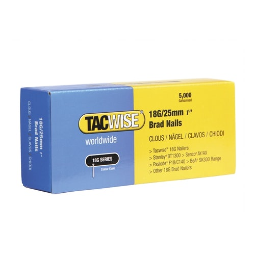 18G Brad Nails 10mm by Tacwise - Box of 5000