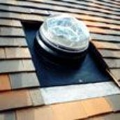 Diamond Dome Sunpipe 230mm Gallery Plain Tiled Roof Kit & 610mm Length