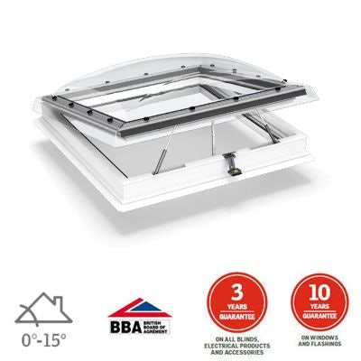 Video of VELUX Flat Roof Window Clear INTEGRA Dome and Kerb - 600mm x 600mm