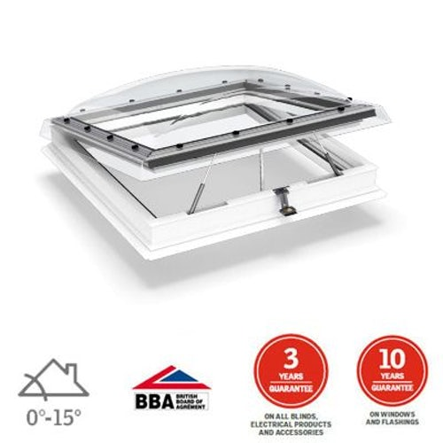 VELUX Flat Roof Window Clear INTEGRA Dome and Kerb - 800mm x 800mm
