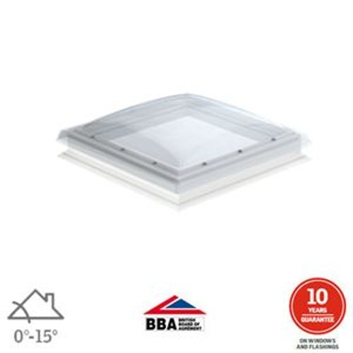 VELUX Flat Roof Window Clear Fixed Dome and Kerb - 900mm x 900mm
