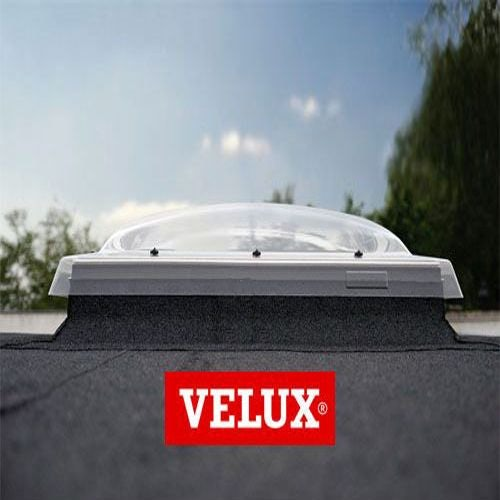 VELUX Flat Roof Window Opaque Fixed Dome and Kerb - 1000mm x 1000mm