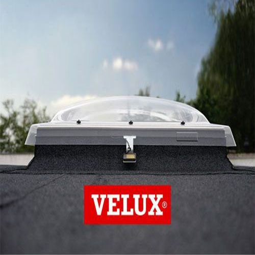 VELUX Flat Roof Window Opaque INTEGRA Dome and Kerb - 1200mm x 1200mm