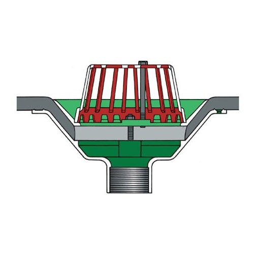 aluminium-roof-rainwater-outlet-vertical-threaded-dome-grate