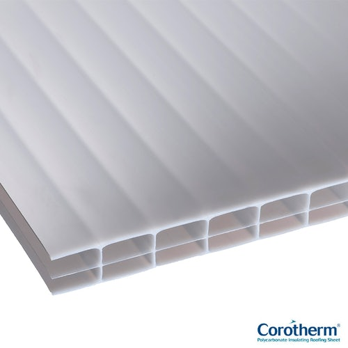 Corotherm 16mm Opal Triplewall Polycarbonate Sheet - 3000mm x 1600mm