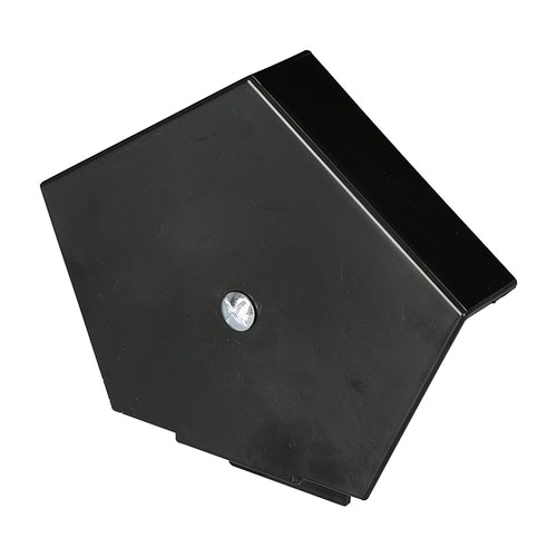 Corovent Cdv Continuous Dry Verge S Profile Ridge End Cap In Black Roofing Superstore