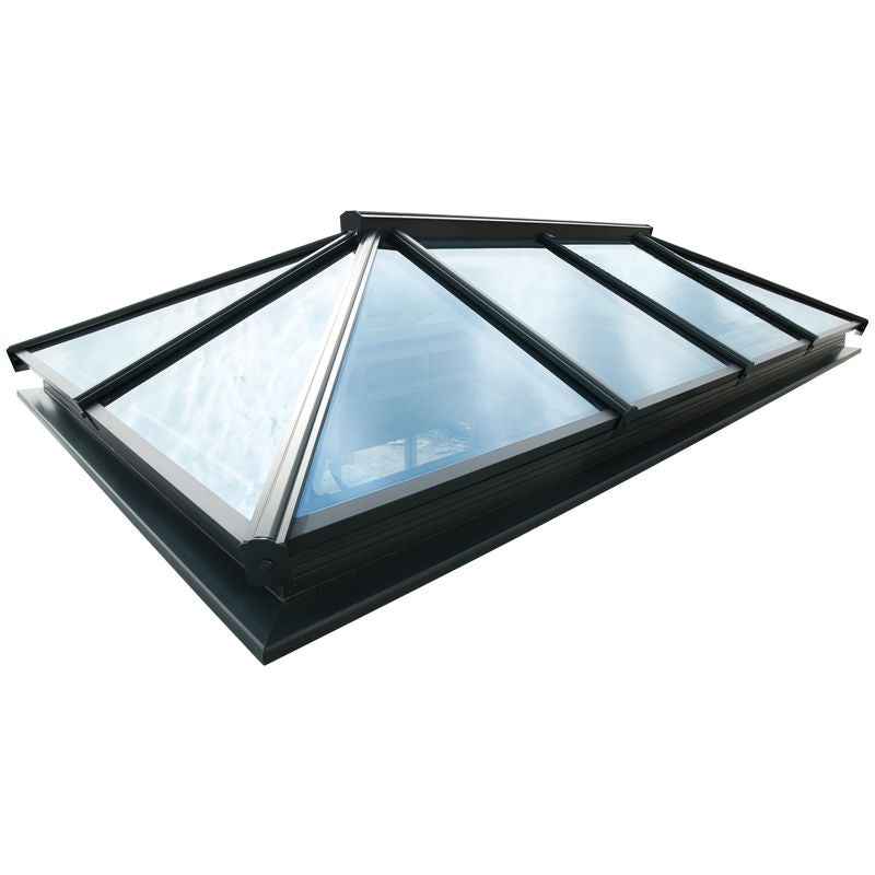 Video of Atlas Active Neutral Double Glazed Traditional Roof Lantern in Black/White - 2000mm x 3000mm