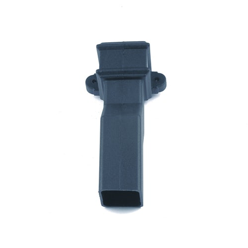 Cast Iron Style Square Downpipe 65mm Plinth Offset 50mm - Anthracite Grey