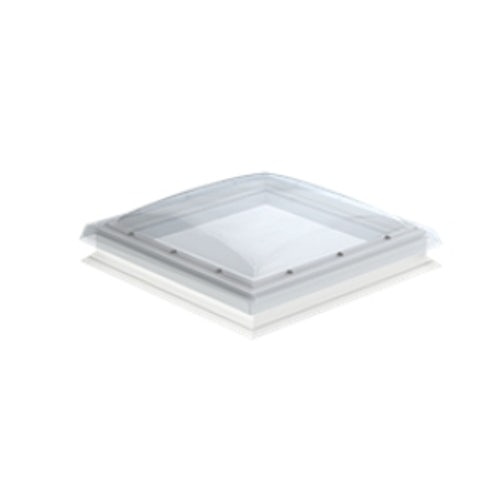 VELUX Flat Roof Window Clear Fixed Dome and Kerb - 600mm x 900mm