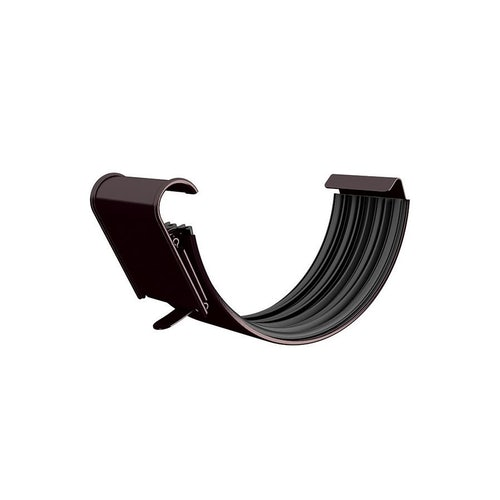 Lindab Half Round Gutter Joint 100mm - Coffee Brown