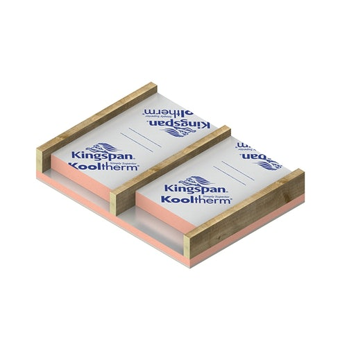 Insulated Plasterboard by Kingspan K118 Kooltherm 72.5mm - 31.68m2