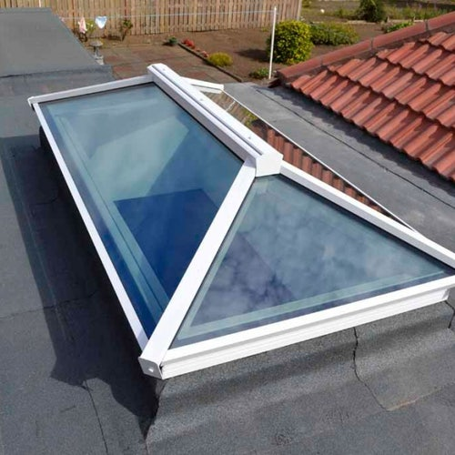 Atlas Active Neutral Double Glazed Contemporary Roof Lantern in Black/Black - 1000mm x 1500mm