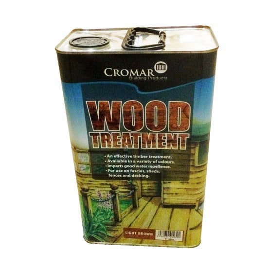 Cromar Wood Treatment in Light Brown - 5 Litres