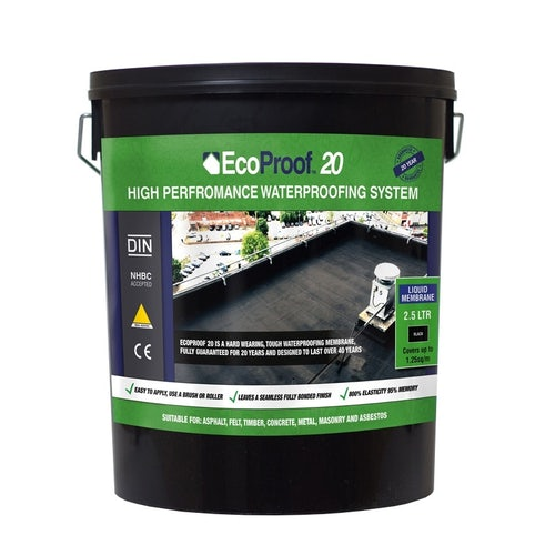 Video of EcoProof 20 Liquid Rubber Waterproof Membrane - 20ltrs (Black)