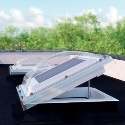 Fakro DEC-C P2 10001000 Z-Wave Flat Roof Dome & Kerb - 1000mm x 1000mm