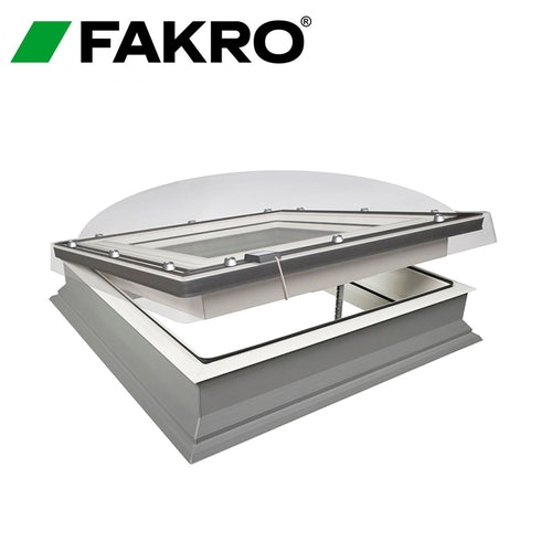 Fakro DMC-C P2 12001200 Flat Roof Window Dome & Kerb - 1200mm x 1200mm