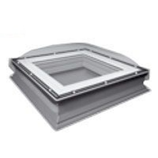 Fakro DXC-C P4 Secure 800800 Flat Roof Dome & Kerb - 800mm x 800mm