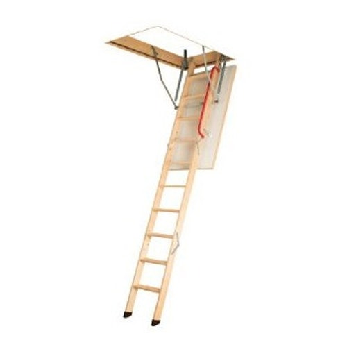 Fakro Komfort 3 Section Wooden Loft Ladder 3.05m Length - 70cm x 130cm