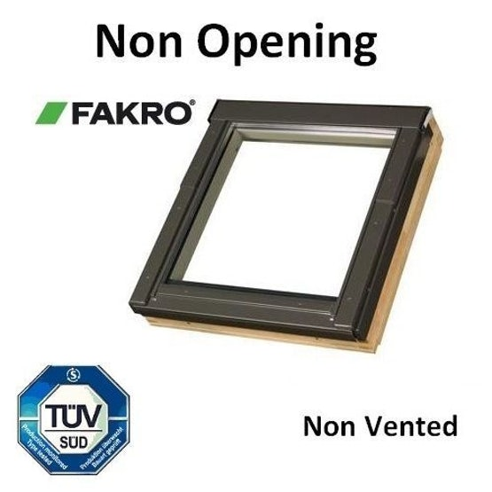 Fakro FNU P2 White PU Coated Non-Opening Roof Window - 66 x 140cm