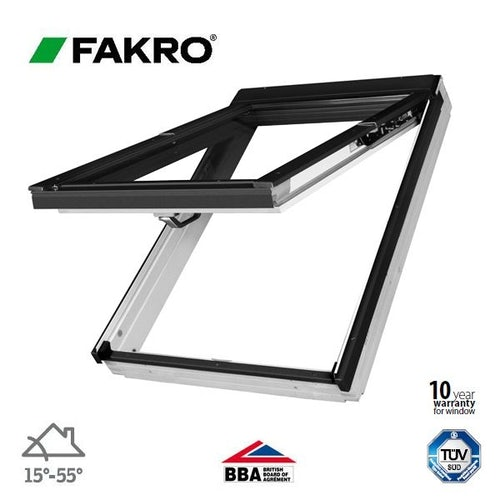 Fakro FPU-V P2/04 White Dual Top Hung Window Laminated - 66cm x 118cm
