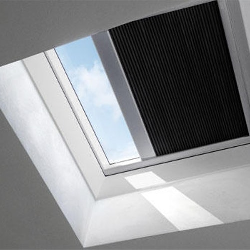 VELUX FSK 080080 1047S Solar Double Pleated Blind - Charcoal