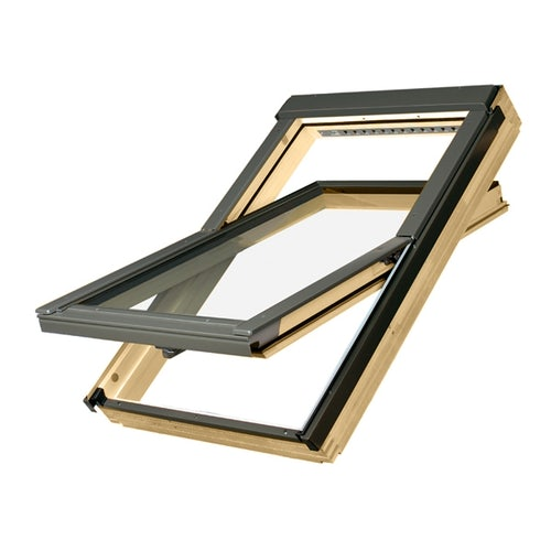 Video of Fakro FTP - V P2/02 Pine Centre Pivot Roof Window Laminated - 55cm x 98cm