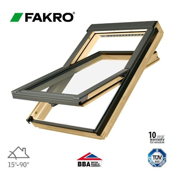 Video of FTP-V O2/02 Obscure Fakro Pine Centre Pivot Roof Window 55cm x 98cm