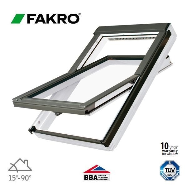 Video of Fakro FTW-V P5/07 White Painted Centre Pivot Window - 78cm x 140cm