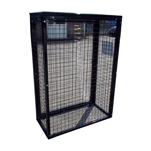 Gas Bottle/Cylinder Storage Cage 1400 x 1000 x 500mm with Caged Base